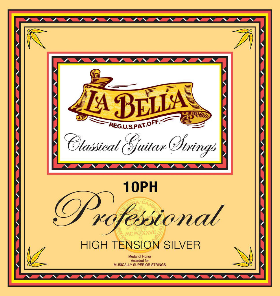 La Bella<br> 10PH Professional<br> High Tension<br> Classical Guitar Strings