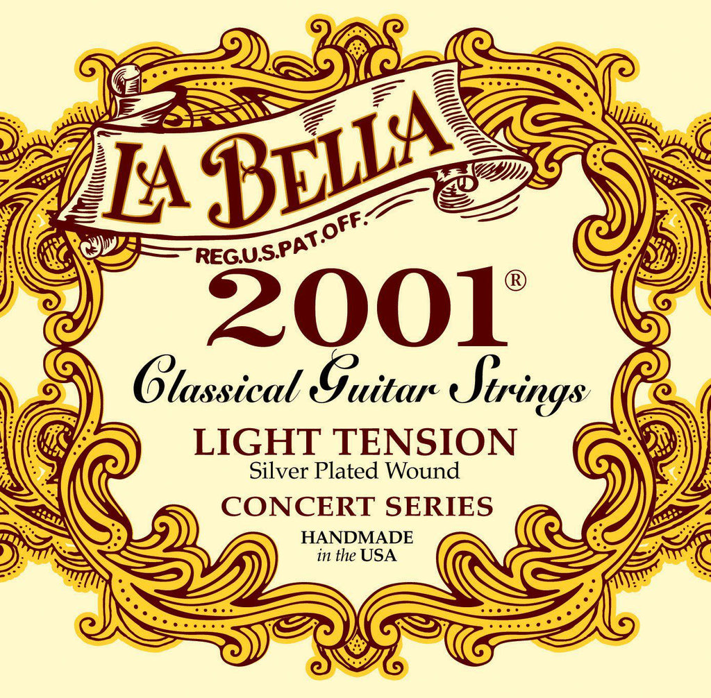 La Bella<br> 2001 Classical<br> Light Tension<br> Classical Guitar Strings