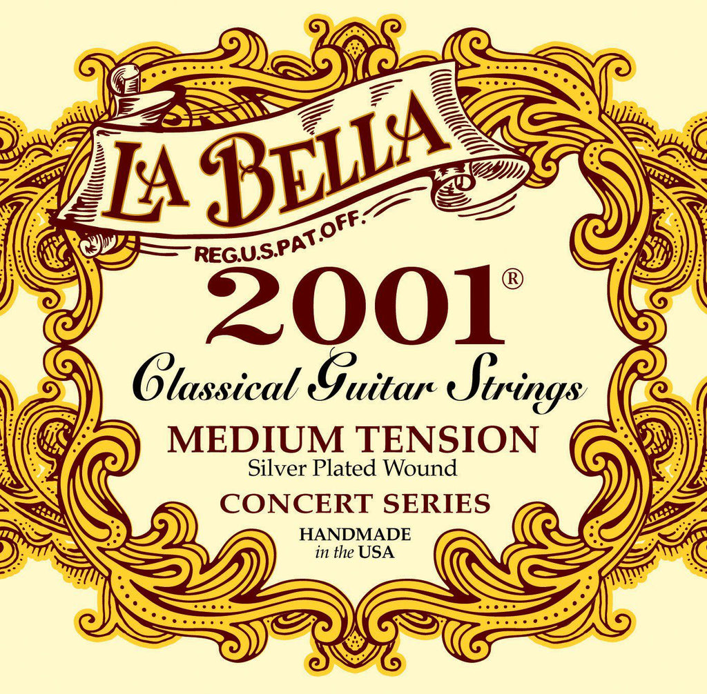 La Bella<br> 2001 Classical<br> Medium Tension<br> Classical Guitar Strings
