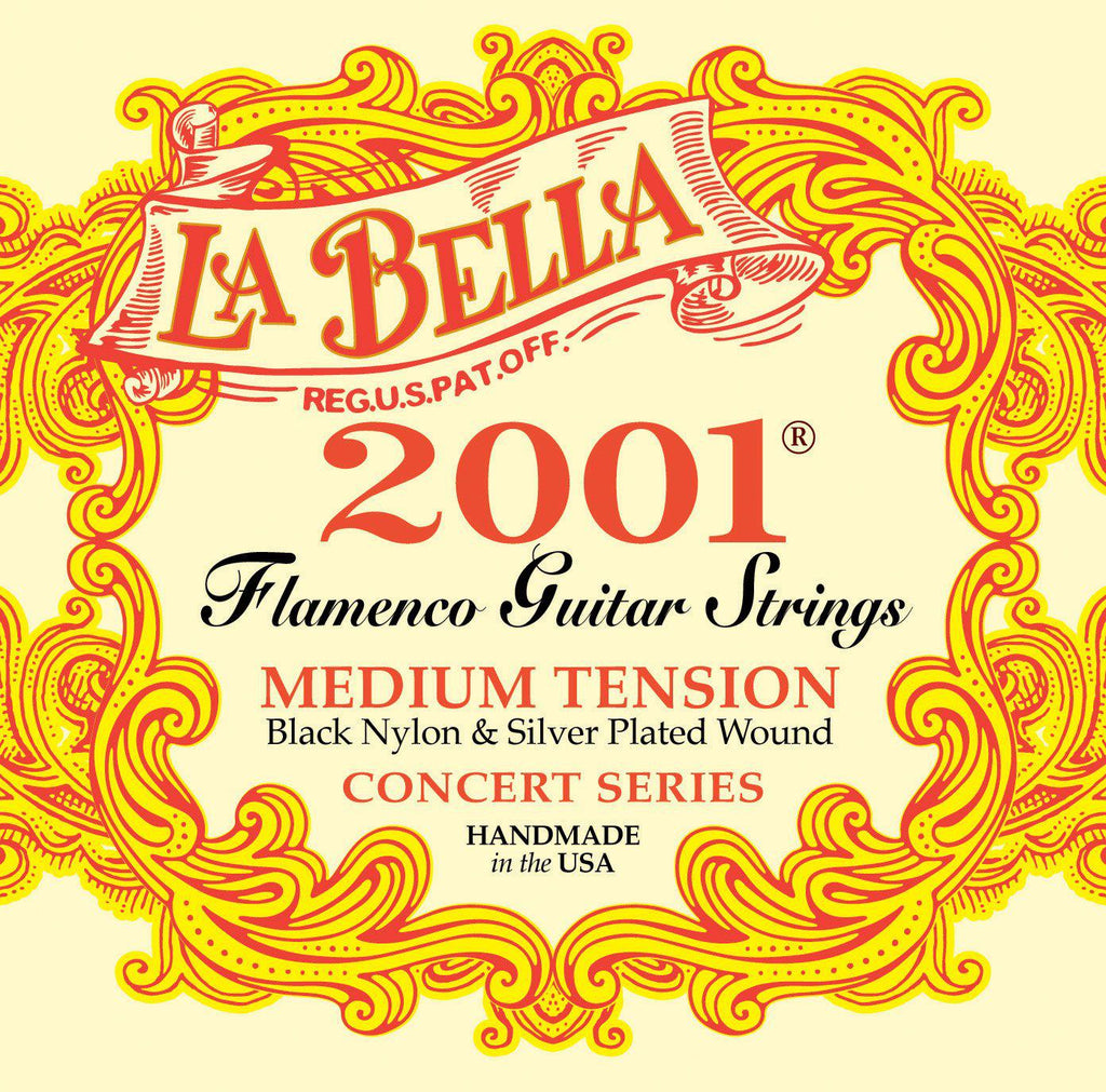 La Bella<br> 2001 Flamenco<br> Medium Tension<br> Flamenco Guitar Strings