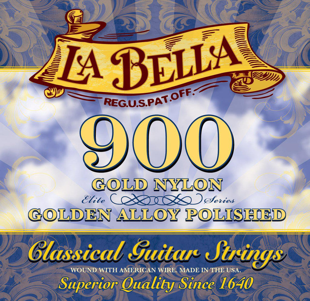 La Bella<br> 900 Golden Superior<br> Medium High Tension<br> Classical Guitar Strings