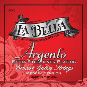 La Bella<br> SM Argento<br> Medium Tension<br> Classical Guitar Strings