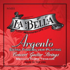 La Bella<br> SMH Argento<br> Medium-Hard Tension<br> Classical Guitar Strings