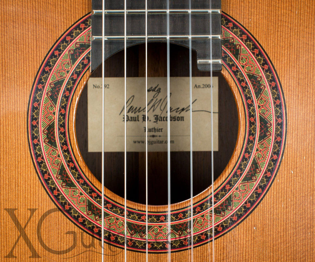 Paul Jacobson classical guitar headstock