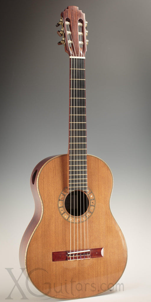 Tony Innis cedar top classical guitar front