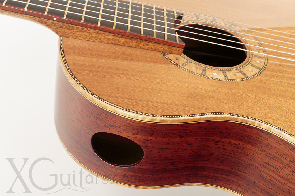 Tony Innis cedar top classical guitar back