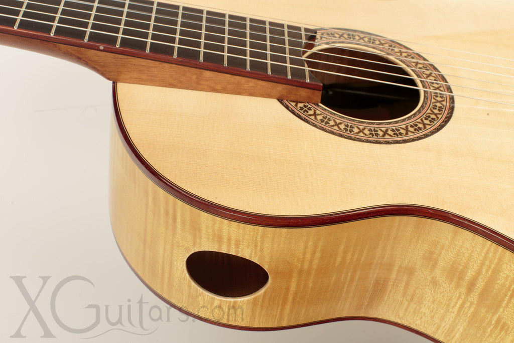 Tony Innis spruce top classical guitar back