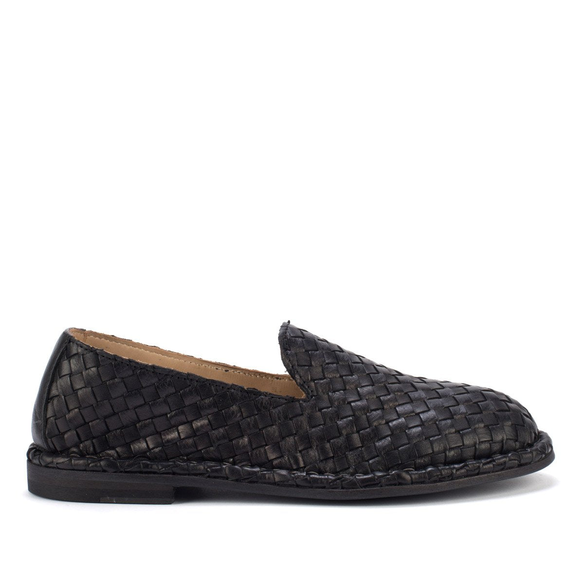 HAND 06 WOVEN SLIPPERS – Black