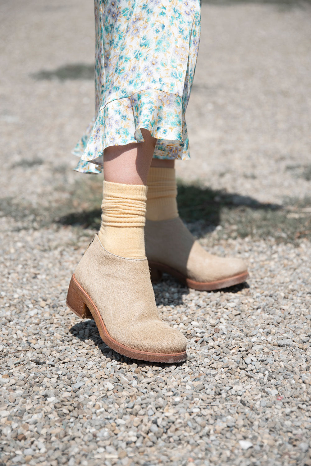 TEXAS24 ANKLE BOOTS – Pony sand