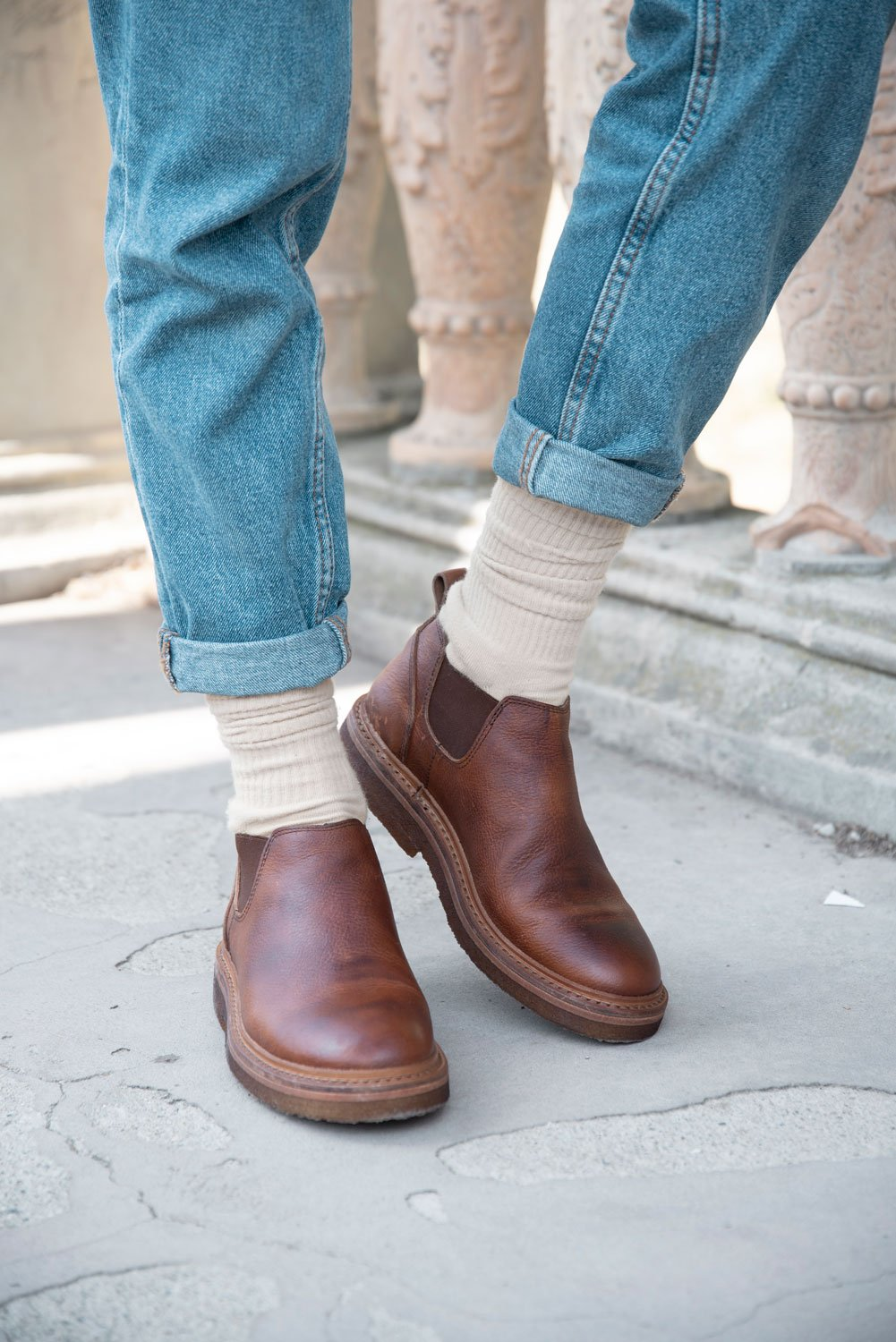COLLEGE22 CHELSEA BOOTS – Tan
