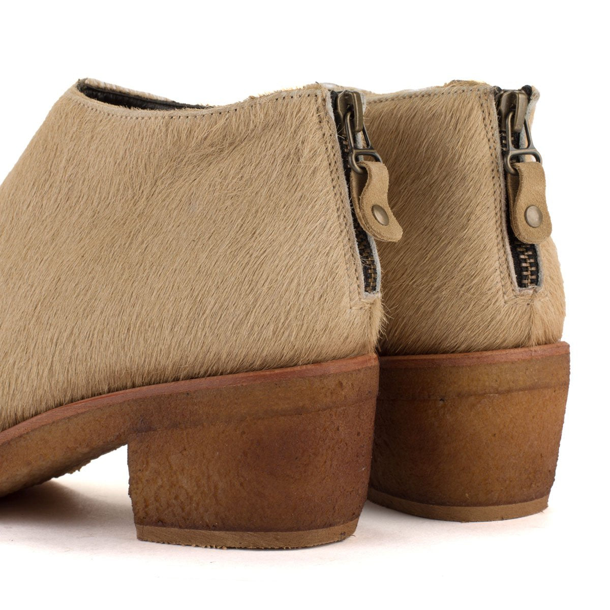 TEXAS02 ANKLE BOOTS – Pony sand