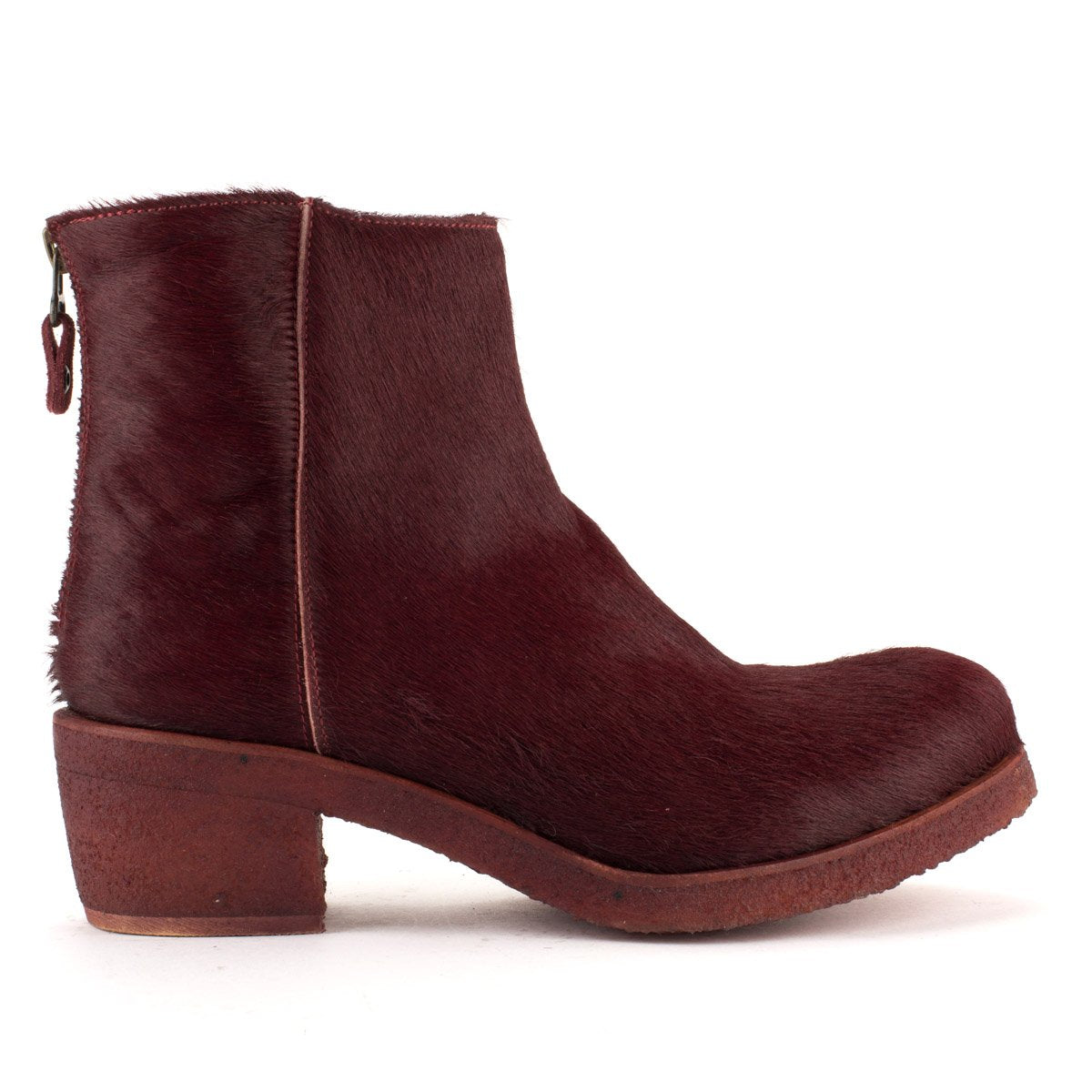 TEXAS 03 PONY TEXTURE BOOTS – Bordeaux