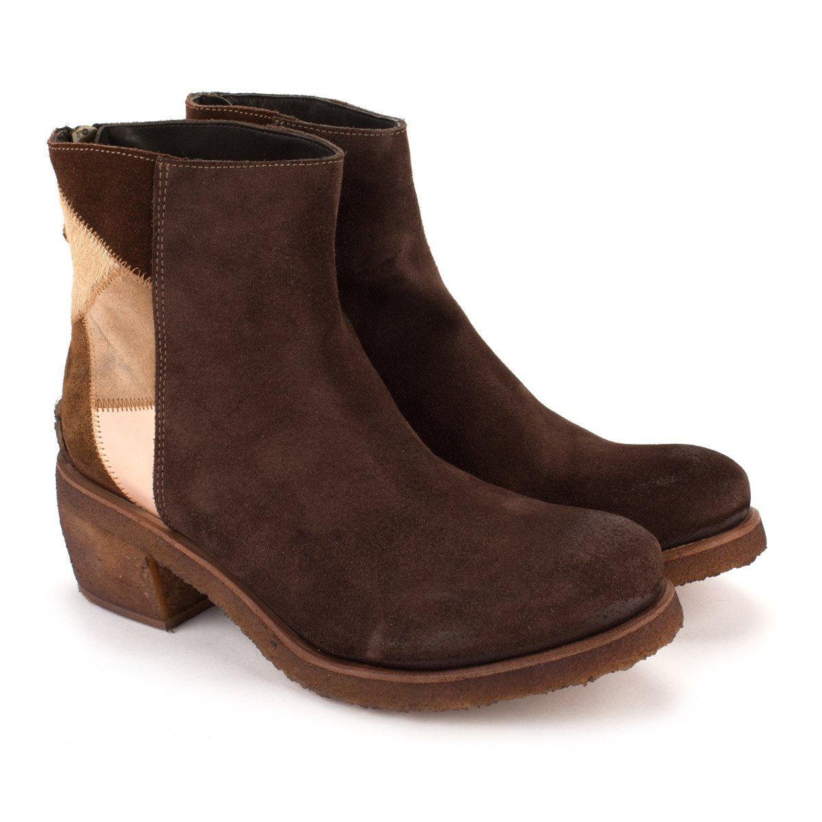 TEXAS 03 SUEDE BOOTS – Patchwork Coffe
