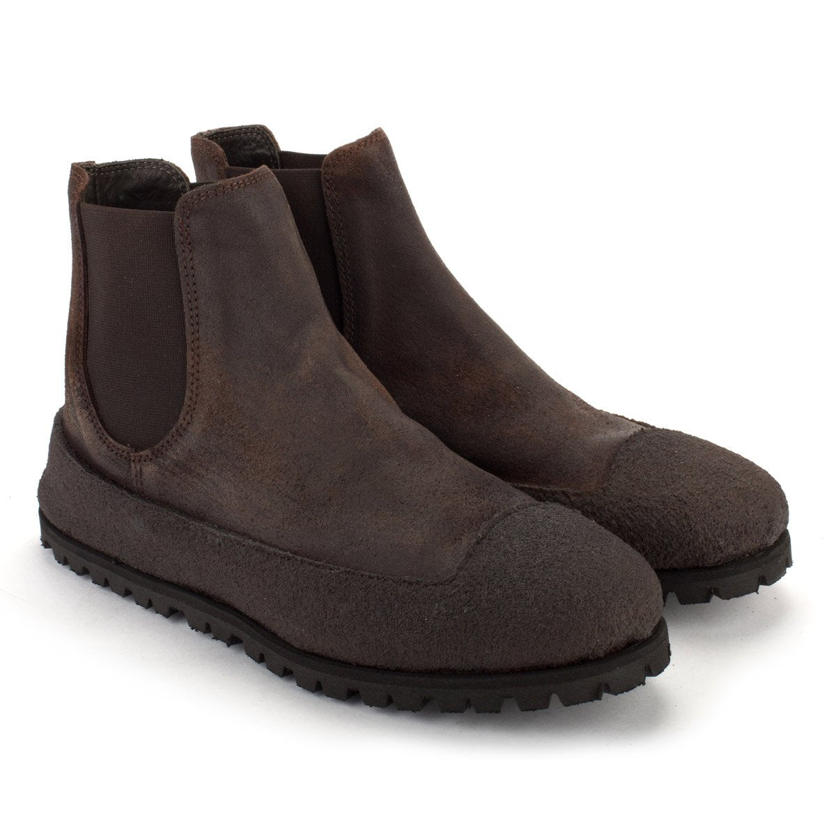 CR25 SUEDE CHELSEA BOOTS – Coffe