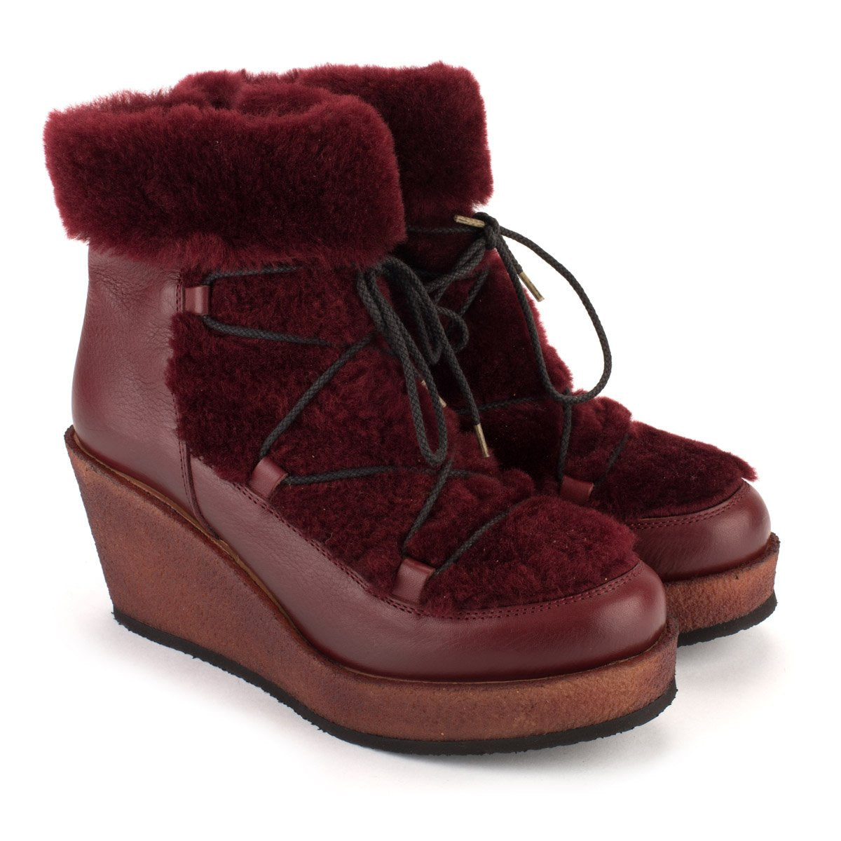 Z30 FURRY BOOTS – Bordeaux