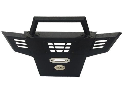 MJFX Alpha Armor Front Bumper in black with winch opening