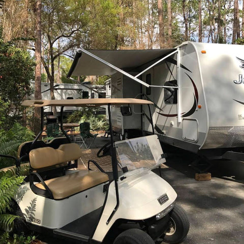 trailer camping with golf cart club car