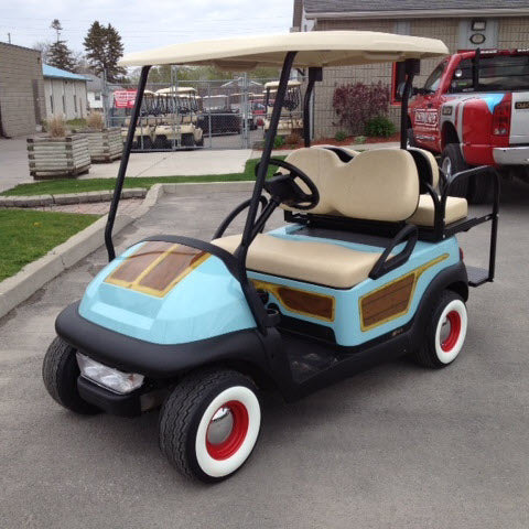 woody paint job for golf cart