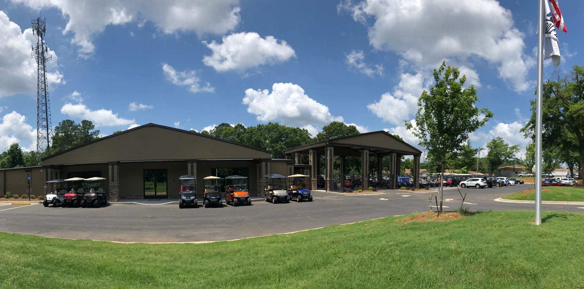 used golf cart parking lot