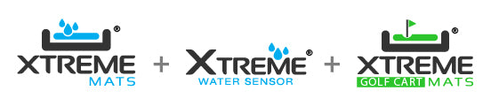 Xtreme Mat logos for water sensors and golf cart mats