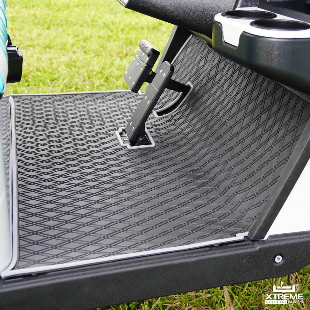 New! E-Z-GO Floor Mats - Fits TXT (1996+), EX1 (2020), Valor, Freedom, Cushman & Express S4 (2012+) 2 & 4 Seaters Front Row Only