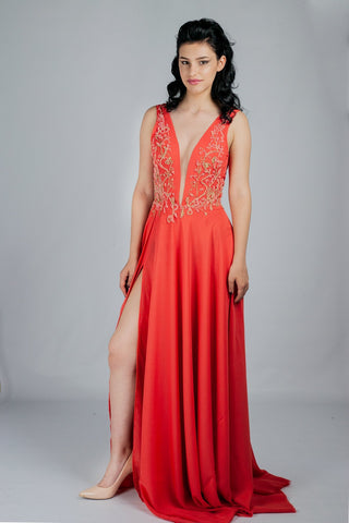 The wild rose - Long Red Dress