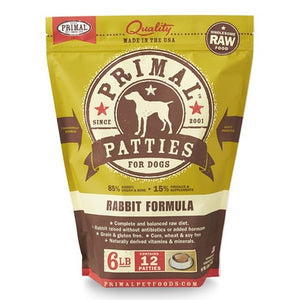 Primal Rabbit Frozen Patties