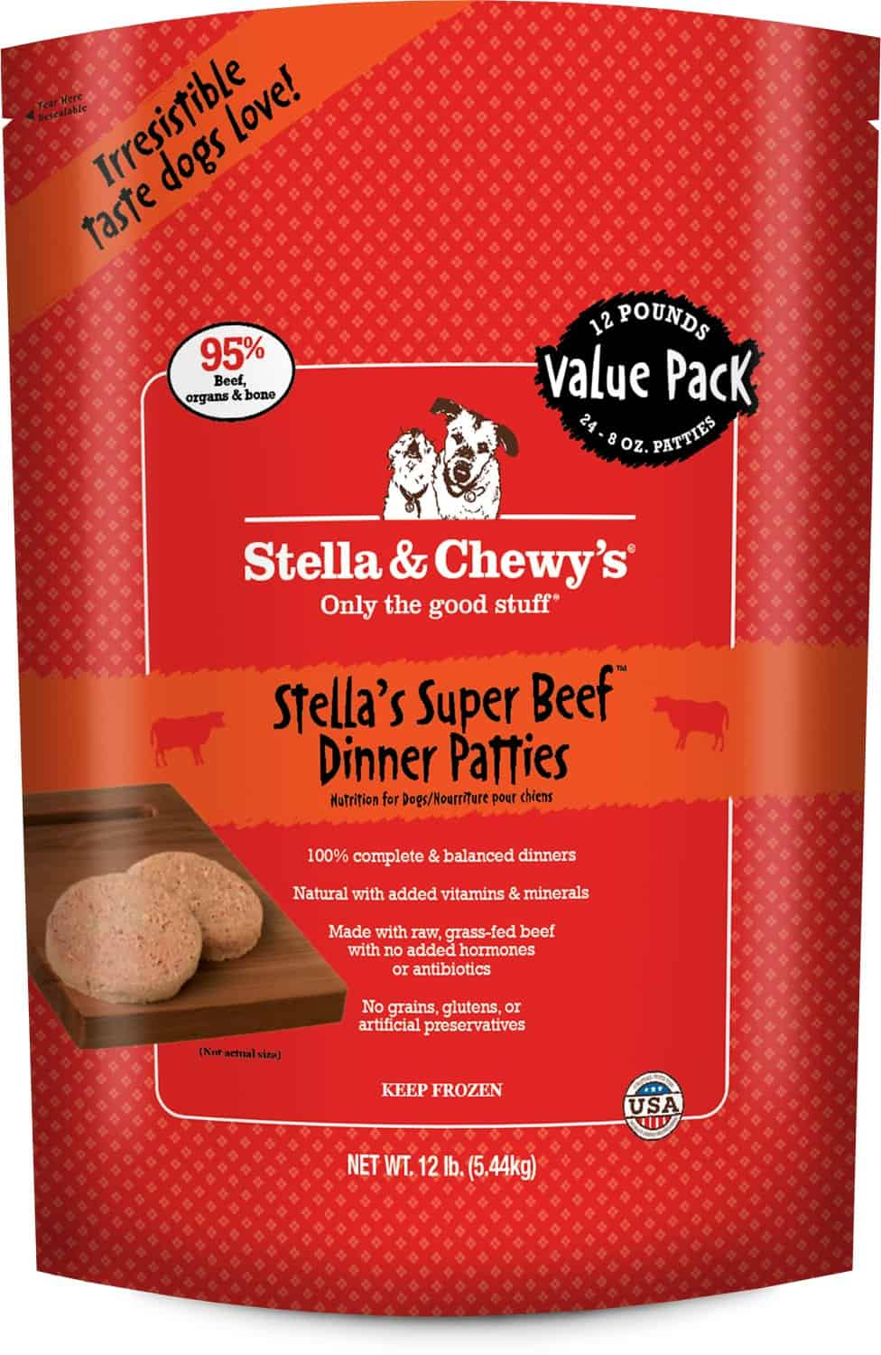 Stella & Chewy's Beef Raw Patties