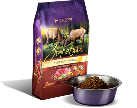 Zignature Venison Dog Food Kibble