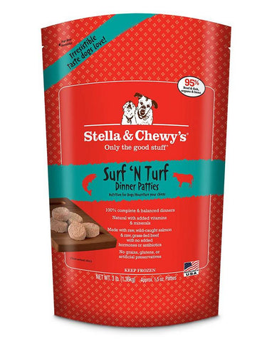 Stella & Chewy's Surf 'n' Turf Raw Patties