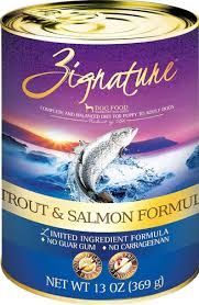 Zignature Trout and Salmon canned dog food