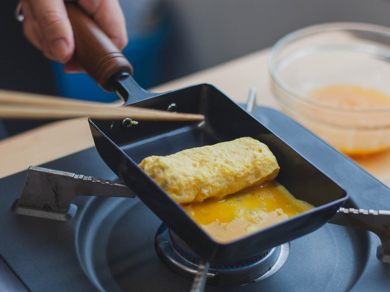 Cooking Tamagoyaki
