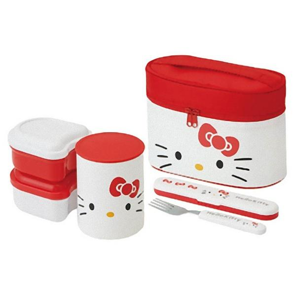 Hello Kitty Face Thermal Lunch Set by Skater - Bento&co Japanese Bento Lunch Boxes and Kitchenware Specialists