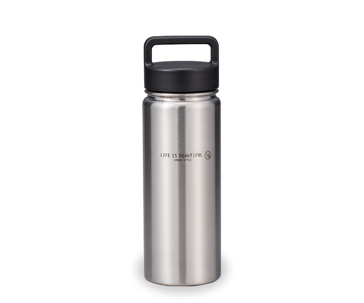 Life is Beautiful Stainless Steel Bottle | Silver