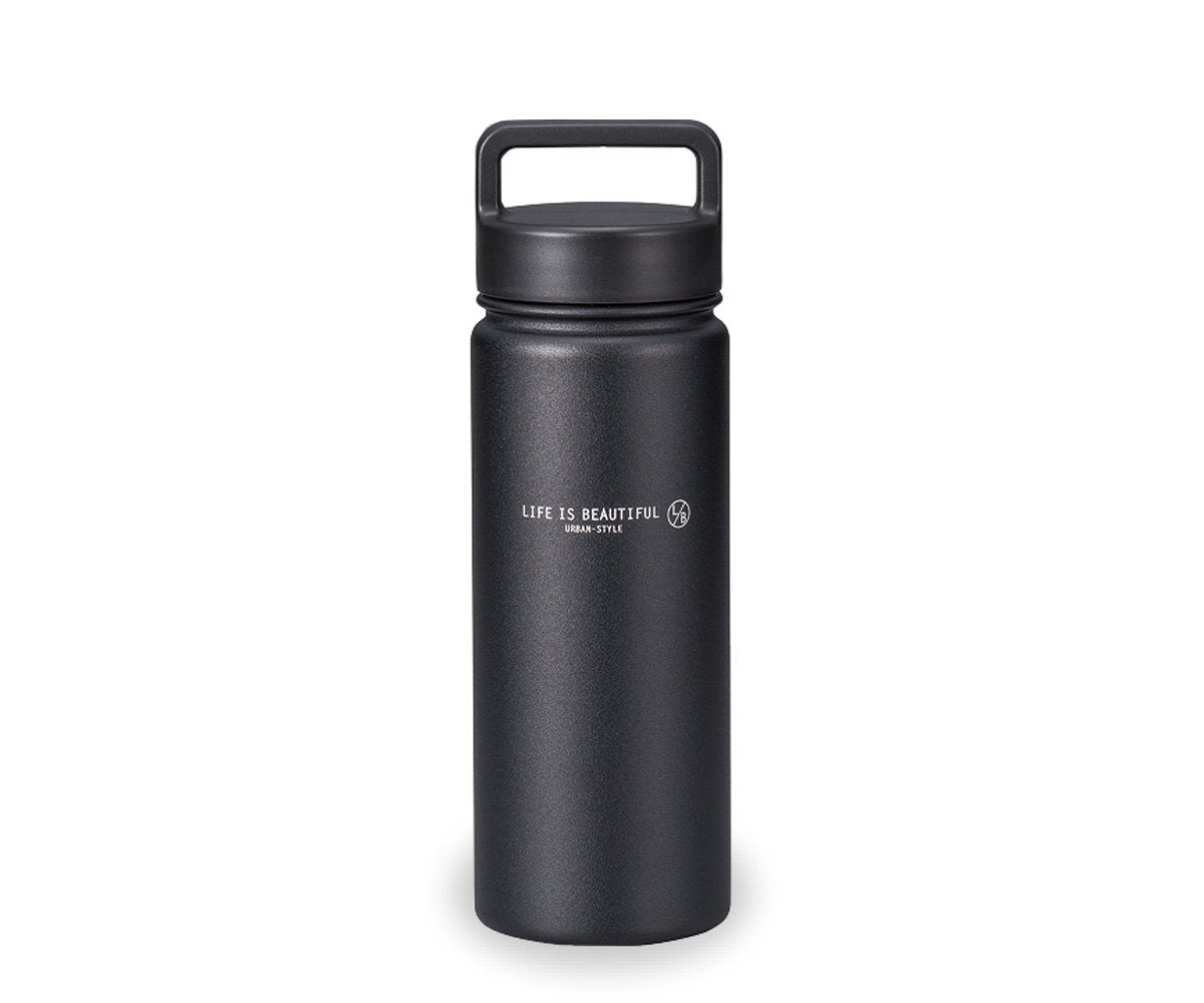 Life is Beautiful Stainless Steel Bottle | Black