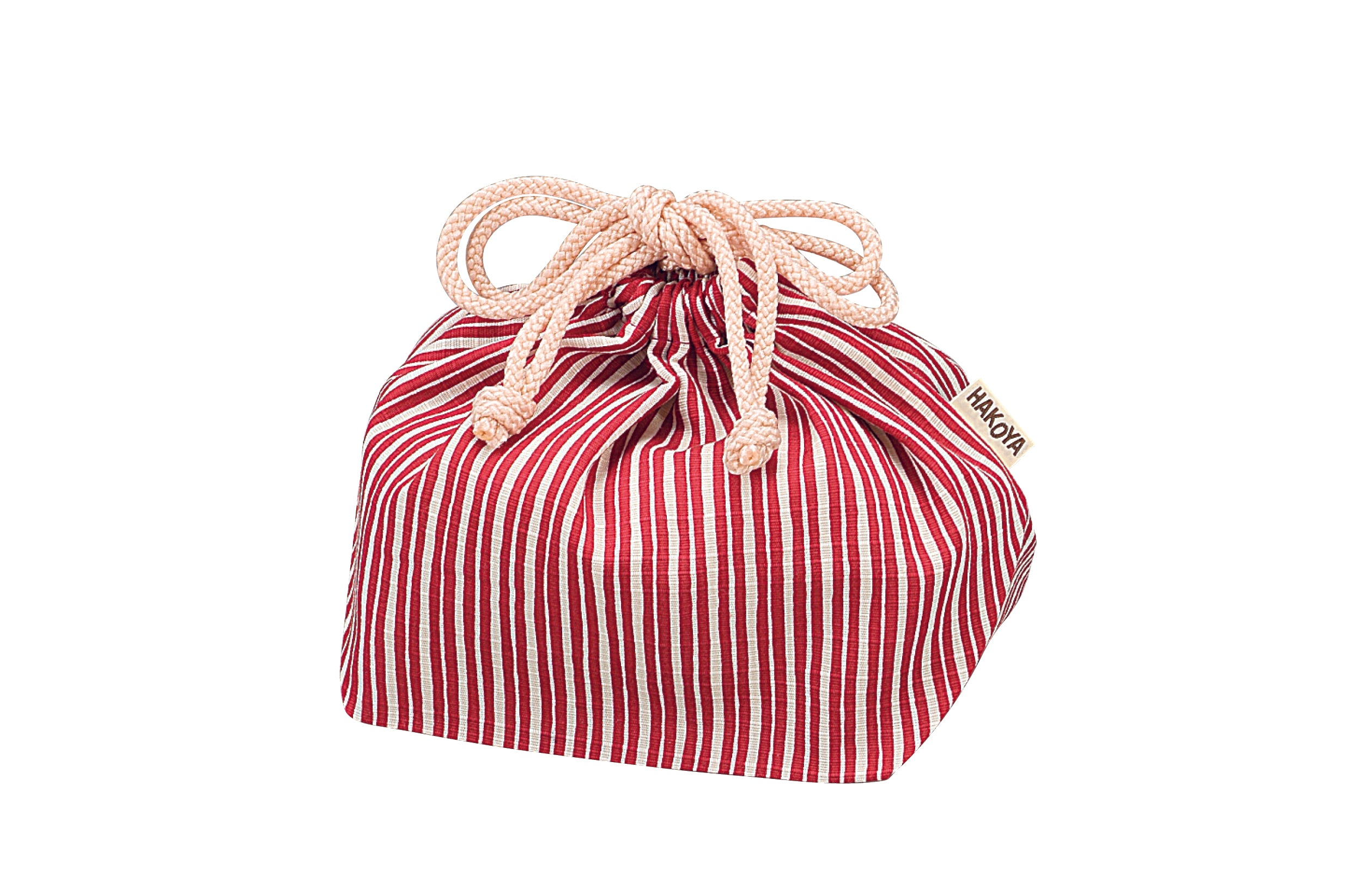 Tokusa Stripes Bag | Red by Hakoya - Bento&co Japanese Bento Lunch Boxes and Kitchenware Specialists