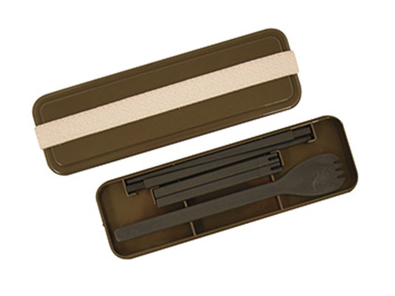 Gel-Cool Slim Cutlery | Brown by Gel Cool - Bento&co Japanese Bento Lunch Boxes and Kitchenware Specialists