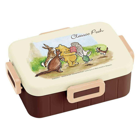 Classic Pooh Side Lock Bento Box 650ml by Skater - Bento&co Japanese Bento Lunch Boxes and Kitchenware Specialists