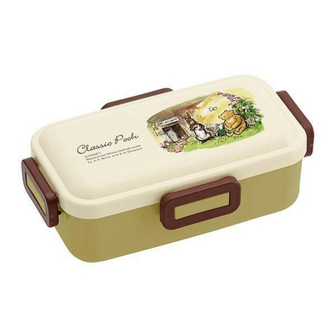 Classic Pooh Side Lock Bento Box 530ml by Skater - Bento&co Japanese Bento Lunch Boxes and Kitchenware Specialists