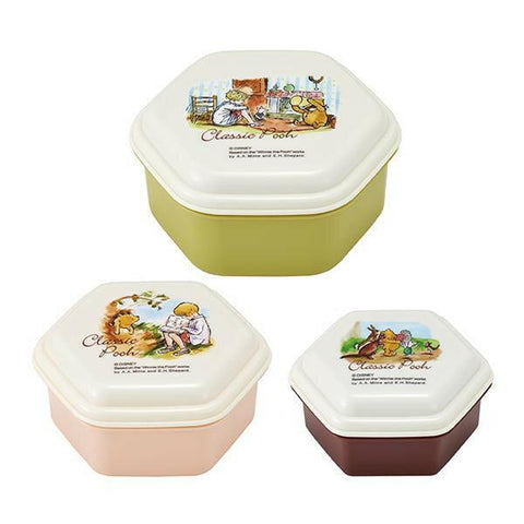 Classic Pooh Stackable Three Piece Set | Friends by Skater - Bento&co Japanese Bento Lunch Boxes and Kitchenware Specialists