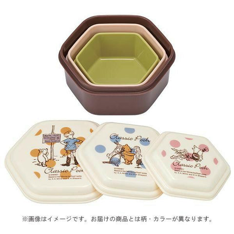 Classic Pooh Box 3P set | Polka Dots by Skater - Bento&co Japanese Bento Lunch Boxes and Kitchenware Specialists