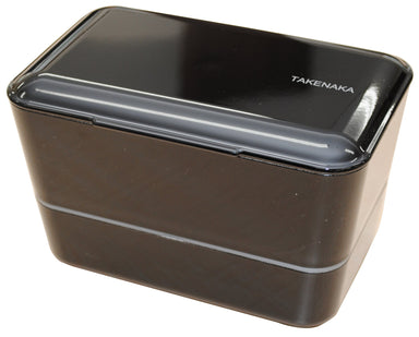 Expanded Double Bento Box | Black by Takenaka - Bento&co Japanese Bento Lunch Boxes and Kitchenware Specialists