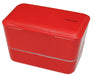 Expanded Double Bento Box | Red by Takenaka - Bento&co Japanese Bento Lunch Boxes and Kitchenware Specialists