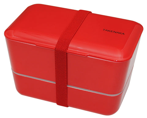Expanded Double Bento Box | Red by Takenaka - Bento&con the Bento Boxes specialist from Kyoto