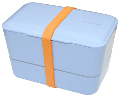 Expanded Double Bento Box | Serenity Blue by Takenaka - Bento&co Japanese Bento Lunch Boxes and Kitchenware Specialists