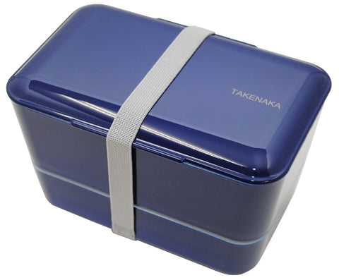 Expanded Double Bento Box | Navy by Takenaka - Bento&con the Bento Boxes specialist from Kyoto