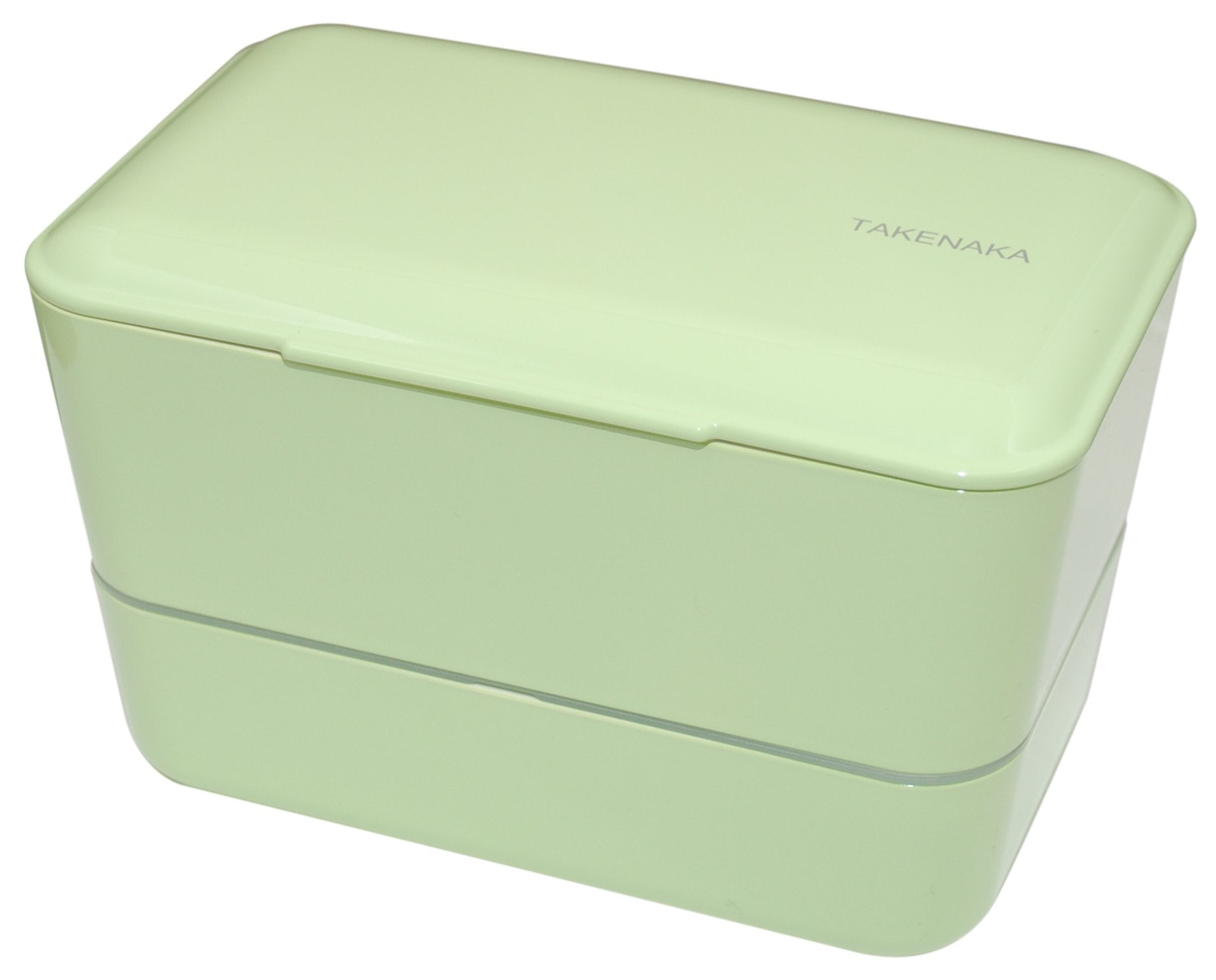 Expanded Double Bento Box | Pistachio Green by Takenaka - Bento&co Japanese Bento Lunch Boxes and Kitchenware Specialists