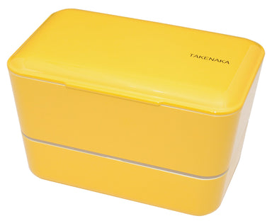 Expanded Double Bento Box | Daffodil Yellow by Takenaka - Bento&co Japanese Bento Lunch Boxes and Kitchenware Specialists