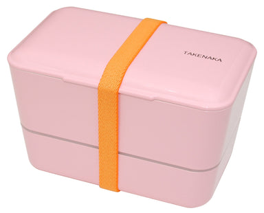 Expanded Double Bento Box | Candy Pink by Takenaka - Bento&co Japanese Bento Lunch Boxes and Kitchenware Specialists