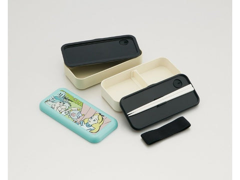 Alice in Wonderland 2 Tier Bento Box by Skater - Bento&con the Bento Boxes specialist from Kyoto